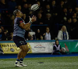 Cardiff Blues' Nick Williams<br /> <br /> Photographer Simon King/Replay Images<br /> <br /> Guinness PRO14 Round 15 - Cardiff Blues v Munster - Saturday 17th February 2018 - Cardiff Arms Park - Cardiff<br /> <br /> World Copyright © Replay Images . All rights reserved. info@replayimages.co.uk - http://replayimages.co.uk