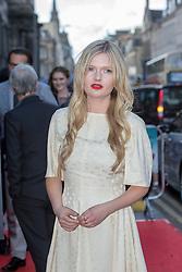"Sophie Kennedy Clark. Opening Night Gala and World Premiere of ""The Legend of Barney Thompson"", Edinburgh International Film Festival 17 - 28 June 2015."