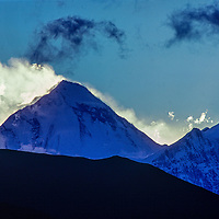 Dhaulagiri I rises above the Kali Gandaki Valley in Nepal.