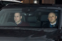 © Licensed to London News Pictures. 14/01/2020. London, UK. PRINCE WILLIAM, DUKE OF CAMBRIDGE (left) is seen returning Kensington Palace in London. Yesterday Queen Elizabeth II held a summit meeting with senior members of the Royal family at Sandringham, following a recent announcement that Prince Harry and Megan, The Duke and Duchess of Sussex, will be stepping back from official Royal duty and spending more time abroad. Photo credit: Ben Cawthra/LNP