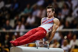 November 2, 2018 - Doha, Qatar - Samuel Mikulak of United States   during  Pommel Horse for Men at the Aspire Dome in Doha, Qatar, Artistic FIG Gymnastics World Championships on 2 of November 2018. (Credit Image: © Ulrik Pedersen/NurPhoto via ZUMA Press)