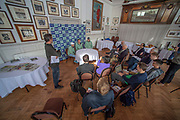 Putney, London, Varsity, Tideway Week, 2nd April 2019, Thames RC, Coaches and crew, CUWBC press conference, Club Room Thames Rowing Club, Oxford/Cambridge Media week, Championship Course,<br /> [Mandatory Credit: Peter SPURRIER], Friday,  05/04/2019,