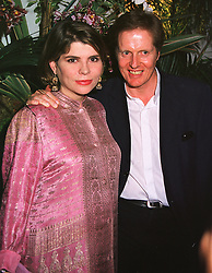 Guinness heiress IVANA LOWELL and her husband MR MATHEW MILLER,  at a party in London on 26th May 1999.MSN 134