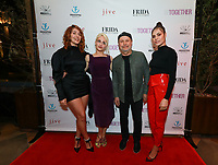 Lola Kirke, Jemima Kirke, Billy Crystal and Elena Ghenoiu at Los Angeles Premiere Of 'Untogether' held at Frida Restaurant on February 08, 2019 in Sherman Oaks, California, United States (Photo by JC Olivera)