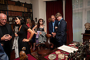 DAVID GILMOUR; POLLY SAMSON; MARTHA FREUD; JAMES FOX; MARK GETTY, Freud Museum dinner, Maresfield Gardens. 16 June 2011. <br /> <br />  , -DO NOT ARCHIVE-© Copyright Photograph by Dafydd Jones. 248 Clapham Rd. London SW9 0PZ. Tel 0207 820 0771. www.dafjones.com.
