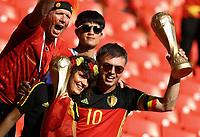 belgium supporters bringing the world cup in the stands<br /> Moscow 23-06-2018 Football FIFA World Cup Russia  2018 <br /> Belgium - Tunisia / Belgio - Tunisia <br /> Foto Matteo Ciambelli/Insidefoto