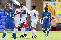 Sammy Ameobi of Bolton Wanderers celebrates scoring his goal - Mandatory by-line: Joe Dent/JMP - 28/07/2018 - FOOTBALL - ABAX Stadium - Peterborough, England - Peterborough United v Bolton Wanderers - Pre-season friendly