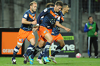 FOOTBALL - FRENCH CHAMPIONSHIP 2011/2012 - L1 - MONTPELLIER HSC v EVIAN TG - 1/05/2012 - PHOTO SYLVAIN THOMAS / DPPI - JOY MONTPELLIER PLAYER AFTER GOAL