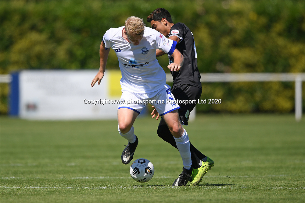 Hamilton Wanderers Brock Messenger in action in the Handa Premiership football match, Hawke's Bay United v Hamilton Wanderers, Bluewater Stadium, Napier, Sunday, November 15, 2020. Copyright photo: Kerry Marshall / www.photosport.nz