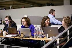 Dekker Charlotte (NED), Veltmeyer Caroline (NED)<br /> KWPN Stallion Selection - 's Hertogenbosch 2014<br /> © Dirk Caremans