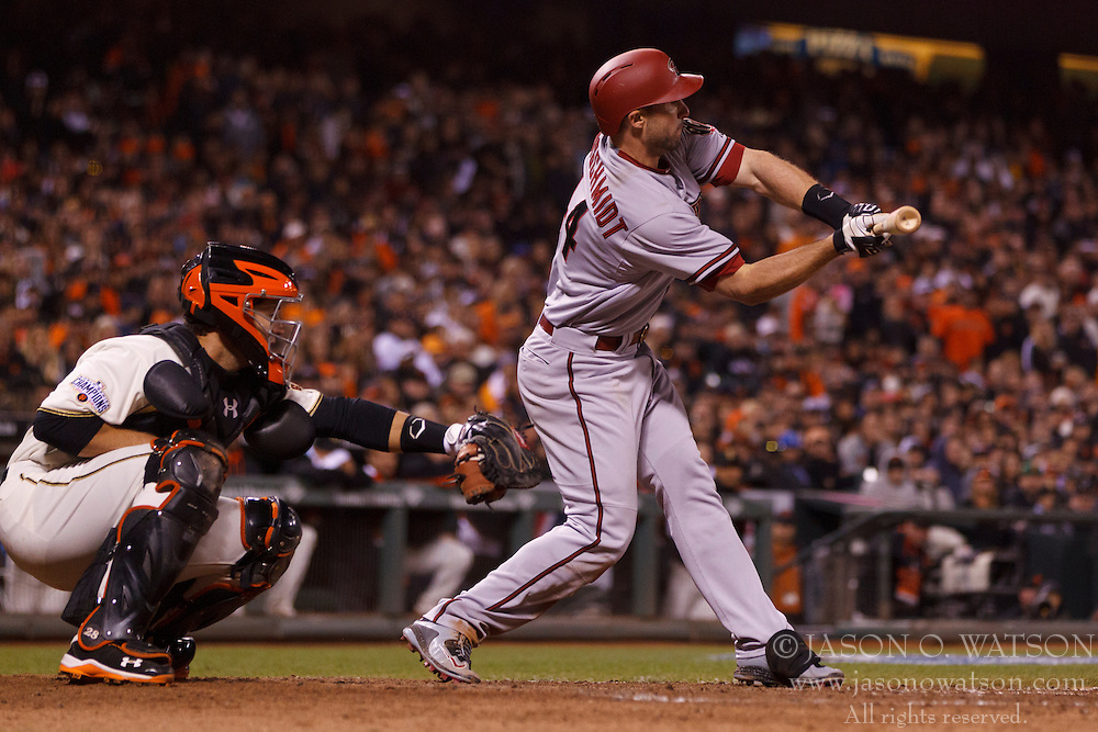 SAN FRANCISCO, CA - APRIL 18:  Paul Goldschmidt #44 of the Arizona Diamondbacks at bat against the San Francisco Giants during the eighth inning at AT&T Park on April 18, 2015 in San Francisco, California.  The San Francisco Giants defeated the Arizona Diamondbacks 4-1. (Photo by Jason O. Watson/Getty Images) *** Local Caption *** Paul Goldschmidt