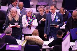 © Licensed to London News Pictures. 13/12/2019. Birmingham, West Midlands, UK. Birmingham Election Count. The Birmingham election count underway in the ICC, Birmingham. Photo credit: Dave Warren / LNP