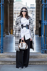 Cristina Andone (fashion blogger) during London Fashion Week Autumn/Winter 2017 in London.  Picture date: Friday 17th February 2017. Photo credit should read: DavidJensen/EMPICS Entertainment