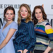 NLD/Hilversum/20180309 - Cast presentatie 'De 12 van Oldenheim', Saskia Temmink, Noortje Herlaar, Gaite Jansen