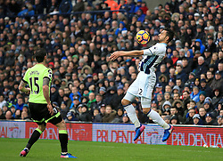 25 February 2017 - Premier League - West Bromwich Albion v AFC Bournemouth - Nacer Chadli of West Bromwich Albion cushions a cross field ball on his chest - Photo: Paul Roberts / Offside