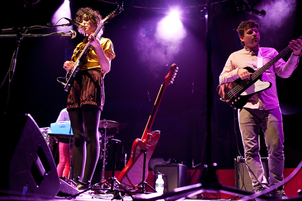 NEW YORK, NY - OCTOBER 10: American musician St. Vincent aka Annie Clark and her band perform at Radio City Music Hall on October 10, 2008 in New York, New York. (PHOTO CREDIT: Eric M. Townsend)