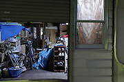 house with a garage used as a storage space