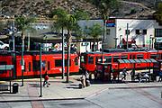 San Diego Trolley Light Rail Transportation System at San Ysidro Station
