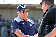 CARY, NC - FEBRUARY 23: Monmouth head coach Dean Ehehalt. The Monmouth University Hawks played the Saint John's University Red Storm on February 23, 2018 on Field 2 at the USA Baseball National Training Complex in Cary, NC in a Division I College Baseball game. St John's won the game 3-0.