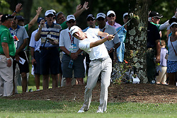 September 23, 2017 - Atlanta, Georgia, United States - Justin Thomas hits out of the rough on the 5th hole during the third round of the TOUR Championship at the East Lake Club. (Credit Image: © Debby Wong via ZUMA Wire)