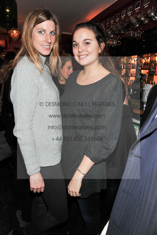 Left to right, SUSANNA WARREN and TINTIN MacDONALD at a party to celebrate the best of W&W Jewellery held at Barts, 87 Sloane Avenue, London on 26th November 2012.