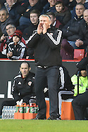Sheffield United  Manager Nigel Adkins shouts instructions during the Sky Bet League 1 match between Sheffield Utd and Bradford City at Bramall Lane, Sheffield, England on 28 December 2015. Photo by Ian Lyall.