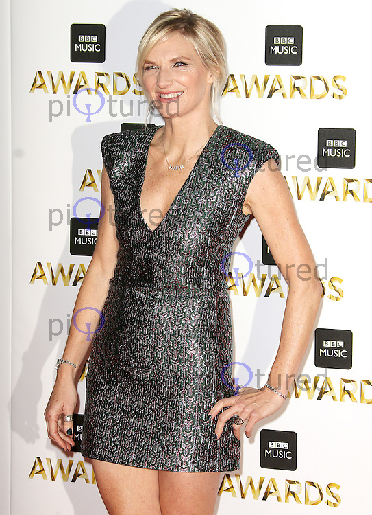 Jo Whiley, BBC Music Awards 2016, Excel Centre, London UK, 12 December 2016, Photo by Brett D. Cove