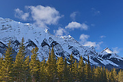 Canadian Rockies in winter, Kananaskis Country, Alberta, Canada