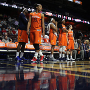 UNCASVILLE, CONNECTICUT- JUNE 3:   The Connecticut Sun bench as the clock runs down for another loss during the Atlanta Dream Vs Connecticut Sun, WNBA regular season game at Mohegan Sun Arena on June 3, 2016 in Uncasville, Connecticut. (Photo by Tim Clayton/Corbis via Getty Images)