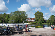 Maidenhead. Berkshire. United Kingdom. General view Competitors, boating, from the car park/trailer park. Maidenhead RC Boathouse. 2017 Maidenhead Junior Regatta  River Thames. <br /> <br /> [©Peter SPURRIER/Intersport Images] Sunday. 14.05.2017