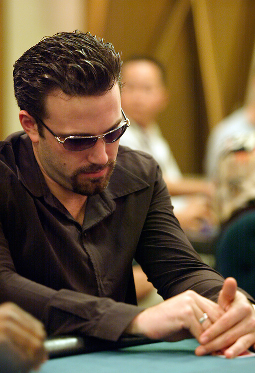 September 1, 2003: Actor Ben Afflect plays poker in the World Poker Tour event at the Bicycle Club in Los Angeles.