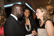 DAVID ADJAYE; ASHLEY SHAW-SCOTT; NICOLA GREEN;  The Neo Romantic Art Gala in aid of the NSPCC. Masterpiece. Chelsea. London.  30 June 2015