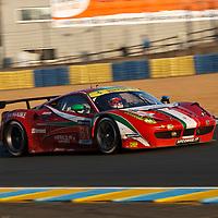 #61 Ferrari 458 Italia, AF Corse (drivers: Cioci, Perez-Companc, Venturi), Le Mans 24H, 2014