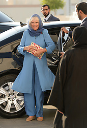 The Duchess of Cornwall arrives at Sheikh Zayed Grand Mosque for a religious tolerance event in Abu Dhabi, United Arab Emirates, during the royal tour of the Middle East.