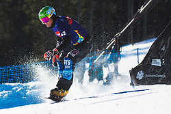 Rok Marguc (SLO) during parallel slalom FIS Snowboard Alpine World Championships 2021 on March 2nd 2021 on Rogla, Slovenia. Photo by Grega Valancic / Sportida