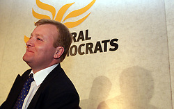 Charles Kennedy at the Liberal Democrats Press conference. .Photo by Andrew Parsons/i-Images.