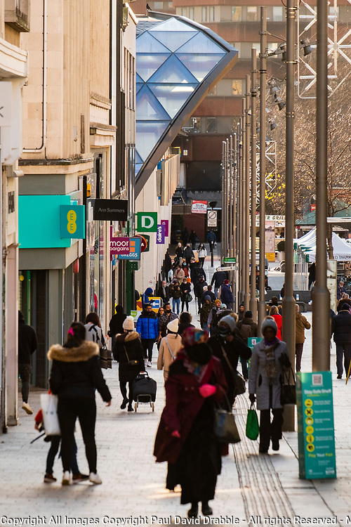 Shoppers on the Moor Sheffield as the third national UK lockdown comes into effect <br /> <br /> 05 January 2020<br /> <br /> www.pauldaviddrabble.co.uk<br /> All Images Copyright Paul David Drabble - <br /> All rights Reserved - <br /> Moral Rights Asserted -
