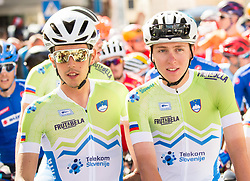 Ziga Horvat, Tadej Pogacar of Slovenia during the Men Under 23 Road Race 179.9km Race from Kufstein to Innsbruck 582m at the 91st UCI Road World Championships 2018 / RR / RWC / on September 28, 2018 in Innsbruck, Austria.  Photo by Vid Ponikvar / Sportida