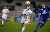 FOOTBALL - FRENCH LEAGUE CUP 2010/2011 - 1/8 FINAL - AJ AUXERRE v SC BASTIA - 27/10/2010 - PHOTO GUY JEFFROY / DPPI - JULIEN QUERCIA (AUX)