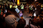 Students marching in London against the proposed scapping of Education Maintenance Allowance(EMA) which costs the government £500b / year. The maximum EMA a stucent can get is £30.00/week and to many students this is essential monies to make it through their studies. Several hundreds of students marched noisily but peacefully from Picadilly Circus to Parliament Square by Westminster in London. The Government won the vote and on the night of Jan 19th the EMA was scrapped.<br /> A future student and protester joining in on the student demonstration in Parliament Square, mobbed by media.