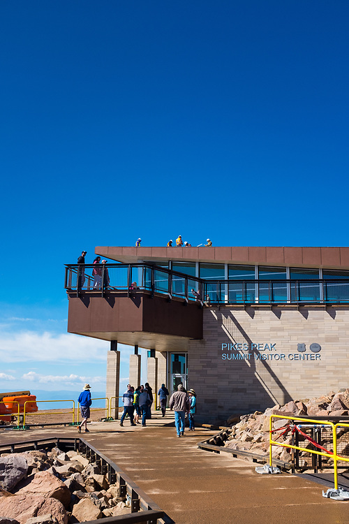 The Pikes Peak Summit Visitor Center, completed in July of 2021.