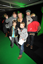 SAMANTHA JANUS and family at the premier of Ben Ten Alien Force at the Old Billingsgate Market, City of London on 15th February 2009.