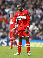 Photo: Dave Linney.<br />West Bromwich Albion v Middlesbrough. The Barclays Premiership. 26/02/2006.Jimmy Floyd Hasslebank