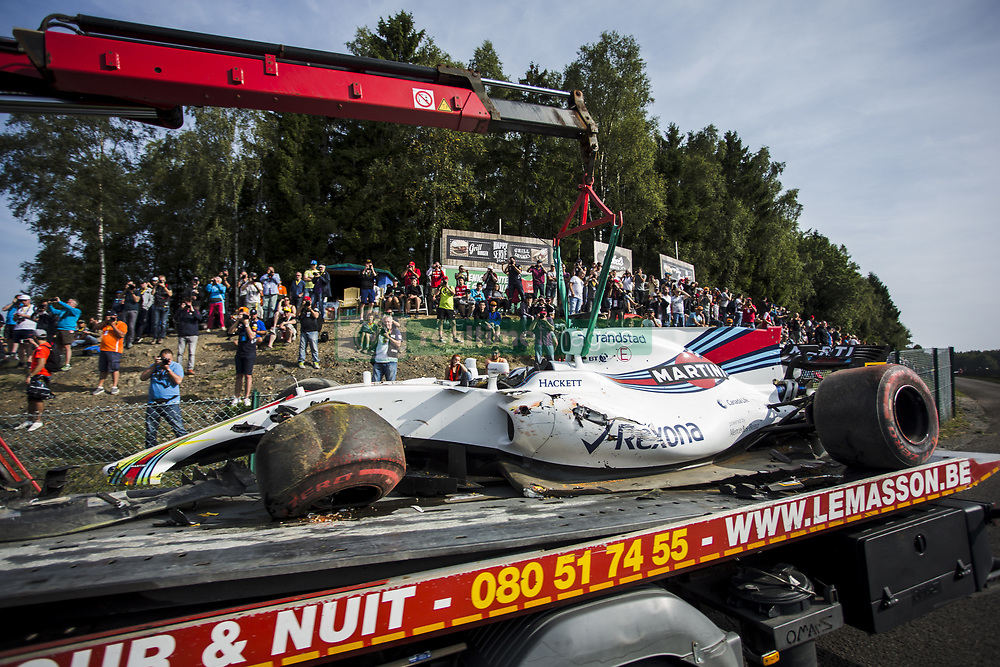 August 25, 2017 - Spa, Belgium - 19 MASSA Felipe from Brasil of Williams F1 after suffering an accident during the Formula One Belgian Grand Prix at Circuit de Spa-Francorchamps on August 25, 2017 in Spa, Belgium. (Credit Image: © Xavier Bonilla/NurPhoto via ZUMA Press)