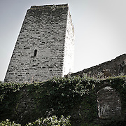 La torre del astello Visconteo a Trezzo d'Adda..The tower of Castello Visconteo in Trezzo d'Adda