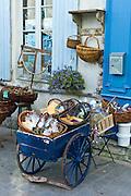 Street scene souvenir shop at St Martin de Re,  Ile de Re, France