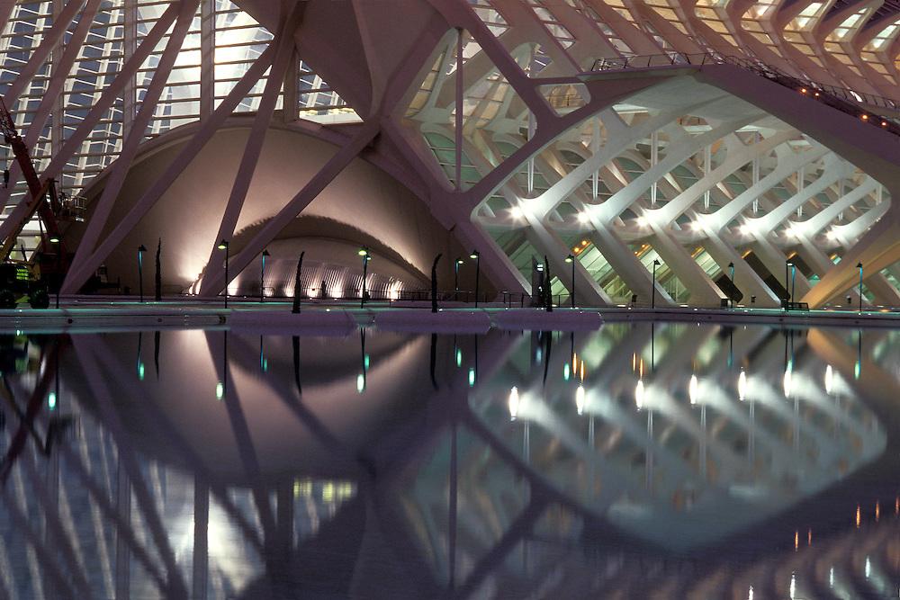 ESPAÑA / VALENCIA<br /> Ciudad de las Artes y las Ciencias de Valencia.<br /> Museo de la Ciencia de Santiago Calatrava.