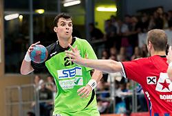 15.10.2016, Halle Hollgasse, Wien, AUT, HLA, SG INSIGNIS Handball WESTWIEN vs HC Fivers WAT Margareten, Grunddurchgang, 8. Runde, im Bild Gabor Hajdu (WestWien) // during Handball League Austria, 8 th round match between HC Fivers WAT Margareten and SG INSIGNIS Handball WESTWIEN at the Halle Hollgasse, Vienna, Austria on 2016/10/15, EXPA Pictures © 2016, PhotoCredit: EXPA/ Sebastian Pucher