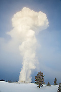 Old Faithful erupting at -33 degrees