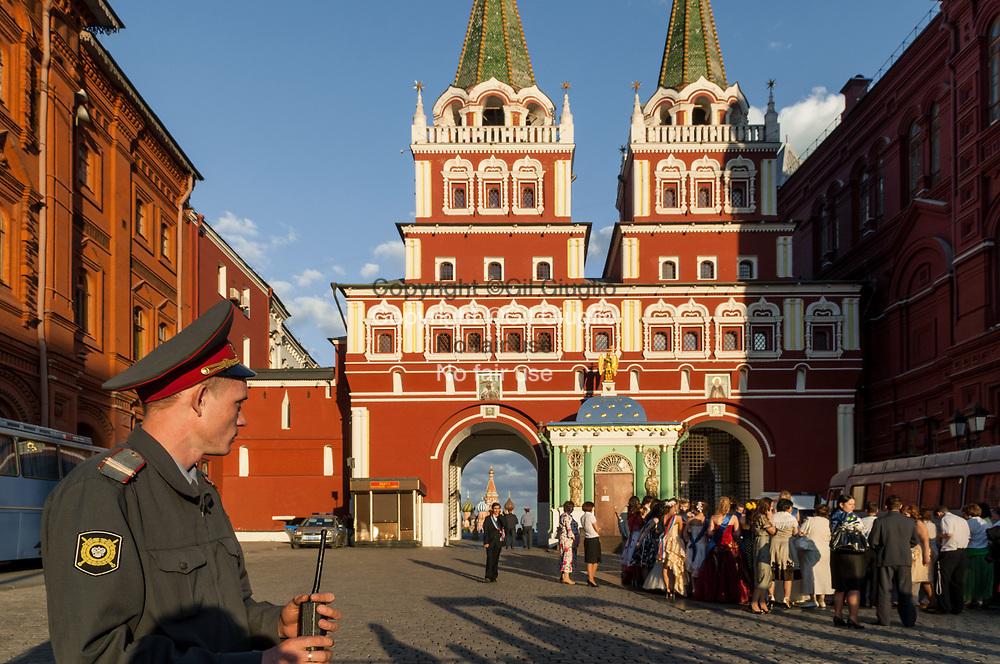 Russie, Moscou, quartiers Kremlin et Place Rouge vue depuis place Manejnaya // Russia, Moscow, quarters of Kremlin and Red Square from Manejnaya square